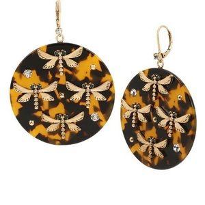 New Betsey Johnson Dragonfly Drop Earrings